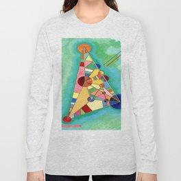 Wassily Kandinsky Multi Colored Triangle Long Sleeve T-shirt
