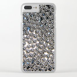 Sugar Pearls Blur – Clock 5 - Living Hell Clear iPhone Case