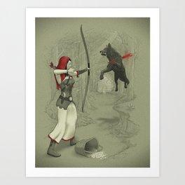 Little Red Robin Hood Art Print