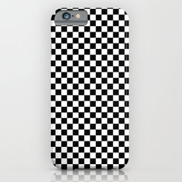 Seamless plaid pattern of black and white iPhone Case