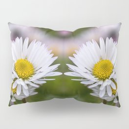 Colourful mirroring daisy flowers Pillow Sham
