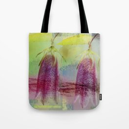 Modern Floral Abstract Tote Bag
