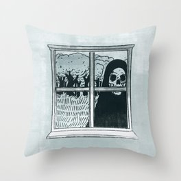 Grim Reapin Throw Pillow