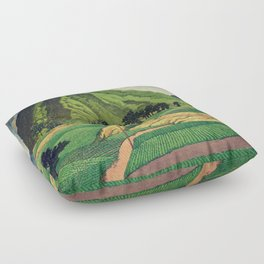 Crossing people's land in Iksey Floor Pillow