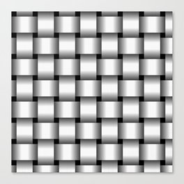 Large White Weave Canvas Print