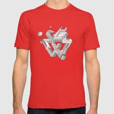 Penrose Manifold MEDIUM Red Mens Fitted Tee