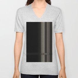 Modern Black Ribbon Pattern Design Unisex V-Neck