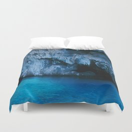 NATURE'S WONDER #3 - BLUE GROTTO #art #society6 Duvet Cover