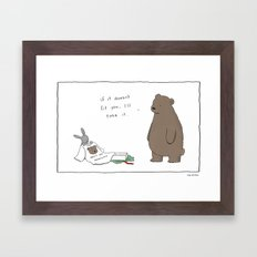 Bears are Awesome  Framed Art Print
