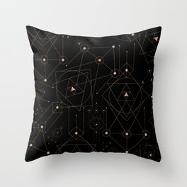 celestial pattern design Throw Pillow