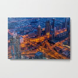 Dubai, The City At Full Speed Metal Print