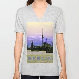 BERLIN SKYLINE Unisex V-Neck