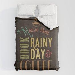 Coffee, book & rainy day Comforters
