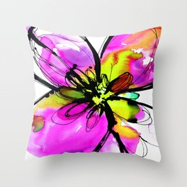 Ecstasy Bloom No.17e by Kathy Morton Stanion Throw Pillow