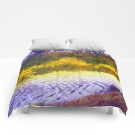 Colorful Lake Painting Comforters