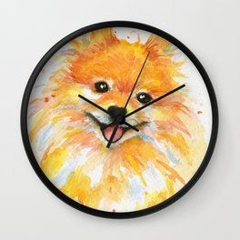 Happy Pomeranian Wall Clock