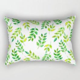 Watercolor palm leaves illustration Rectangular Pillow