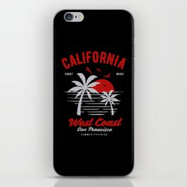 california sunset beach iPhone Skin