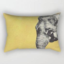 Elephant on yellow Rectangular Pillow