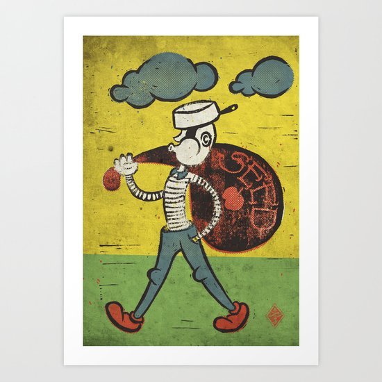 Johnny Appleseed Art Print