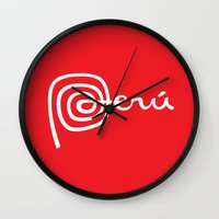 peru Wall Clocks featuring Peru by RubenBer