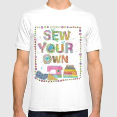 Sew Your Own Mens Fitted Tee White MEDIUM