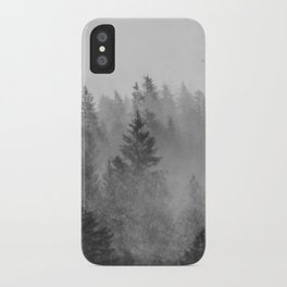 Black and White Forest Abstract iPhone Case