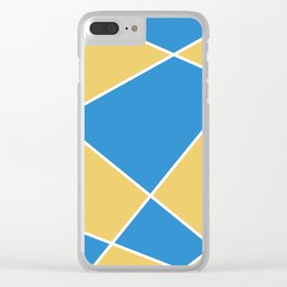 Geometric abstract - orange and blue. Clear iPhone Case