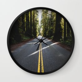 Redwoods Road Trip - Nature Photography Wall Clock