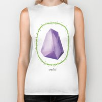 crystal Biker Tanks featuring Crystal by Nuria Muro