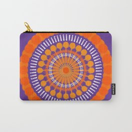 Rough Orange Mandala Carry-All Pouch