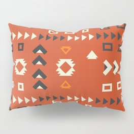 American native shapes in red Pillow Sham