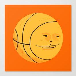 Happy Bouncing Basketball Canvas Print