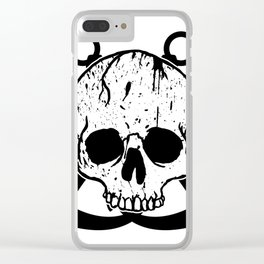 Anchored Jolly Roger Clear iPhone Case