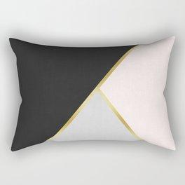 Art with gold V Rectangular Pillow