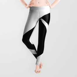 Abstract Modern Minimalist shapes Graphic Square triangles - balance Leggings