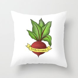 Beets motel Throw Pillow