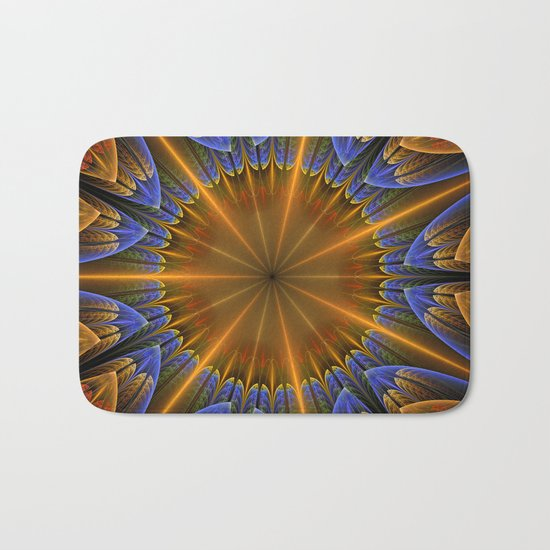 Autumn star Bath Mat