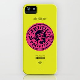 Bad News Provider Official Certification iPhone Case