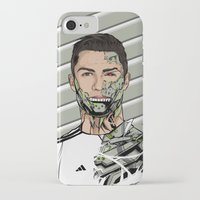real madrid iPhone & iPod Cases featuring Football Legends Cristiano Ronaldo Real Madrid Robot by Akyanyme