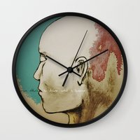 human Wall Clocks featuring Human by Tyler Hayes