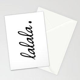 lalala white punchline Stationery Cards
