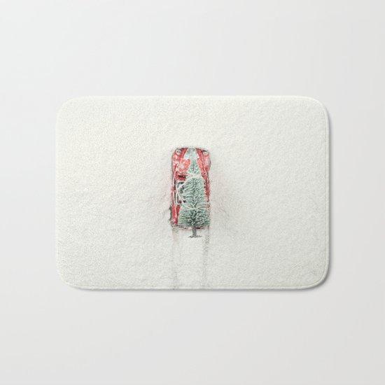 Christmas Eve in a hurry Bath Mat