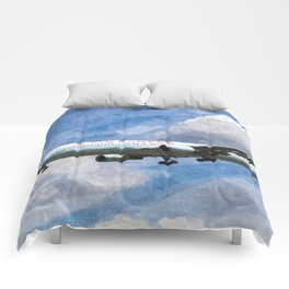Air Canada Boeing 767 Art Comforters