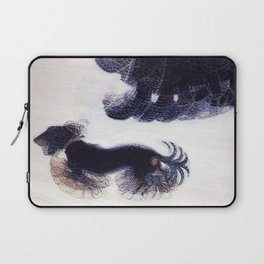 Woman Walking a Dog on a Leash Laptop Sleeve