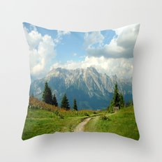 Mountain Range in Austria Throw Pillow