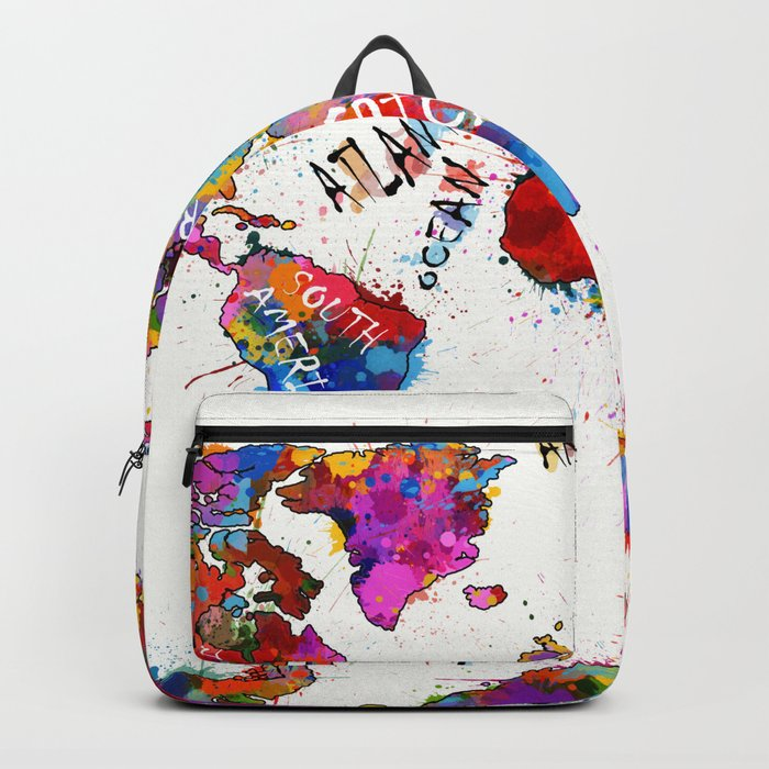 World map color splatter 1 backpack by bekimart society6 world map color splatter 1 backpack gumiabroncs Gallery