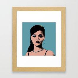 Rihanna Pop Art Framed Art Print