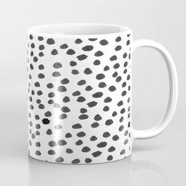 Hand painted monochrome dot pattern Coffee Mug