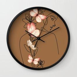 quiet, peaceful, calm, tranquil, serene, uneventful Wall Clock